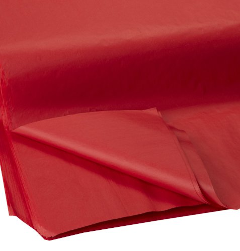 Jillson Roberts Bulk 20 x 30 Inches Recycled Tissue Available in 28 Colors, Red, 480 Unfolded Sheets (BFT09)