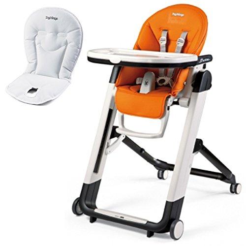 Peg Perego Siesta High Chair With Booster Cushion (Arancia )