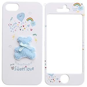 Blue Bear Pattern Detachable Full Body Hard Case for iPhone 5/5S