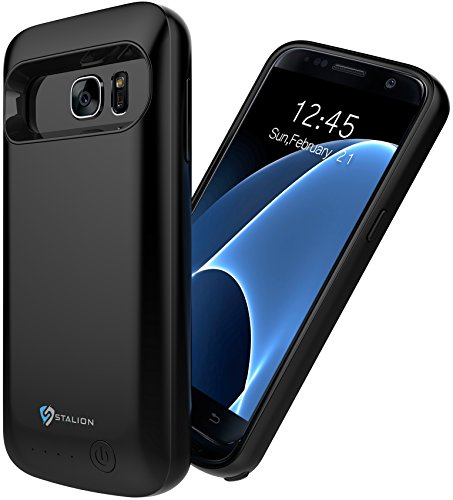Samsung Galaxy S7 Battery Case: Stalion Stamina Rechargeable Extended 4500mAh Protective Power Cover Charging Case (Black (Usb Combo Cable Protective Case)