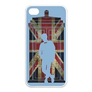 iPhone 4/4S Case, Dr.who Tradis Hard TPU Rubber Snap-on Case for iPhone 4 / 4S