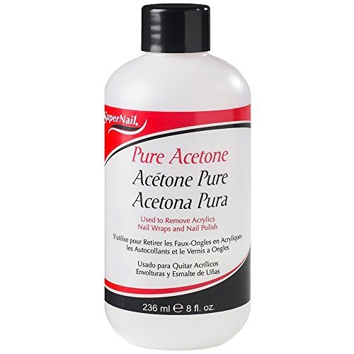(Super Nail Pure Acetone Polish Remover, 8 oz)