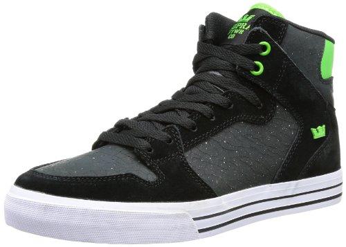 Supra VAIDER S28204, Sneaker Uomo Nero (Schwarz (Black / Lime - White Bkl))