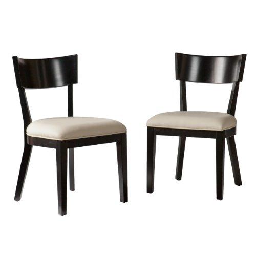 Southern Enterprises Madison Dining Chairs Pair, Black