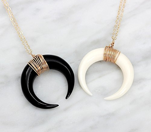 Top double horn necklaces sterling silver for 2019