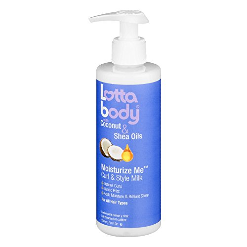 Lotta Body Coconut and Shea Oils Moisturize Me Curl and Style Milk, 8 (Roll Texturizing Gel)