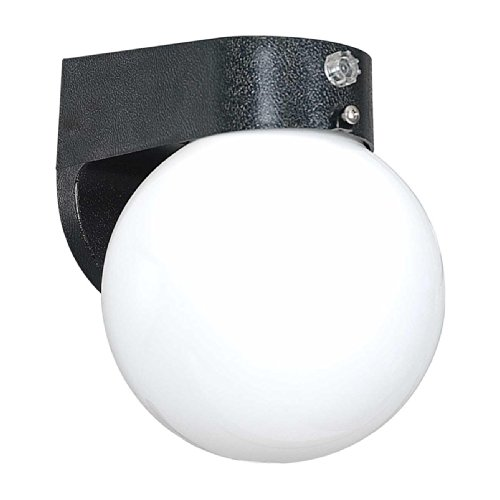 Sunset Lighting F4307-31 Outdoor Wall Sconce with Acrylic Globe Glass, Black Finish