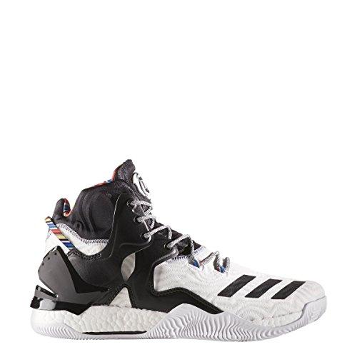 adidas D Rose 7 Schuh Männer Basketball Zukünftiges Weiß / Kernschwarz / metallisches Gold