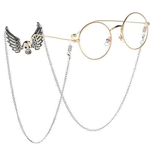 Womens Fashion Vintage Eyeglass Chains Sunglasses Reading Punk Skull Wing Glasses Chain Eyewears Cord Holder neck strap Rope Katoot
