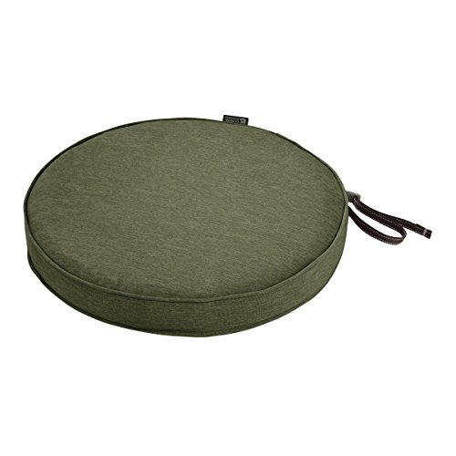 Outdoor Round Chaise (Classic Accessories Montlake Round Cushion Foam & Slip Cover, Heather Fern, 18