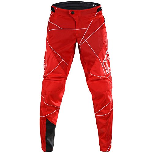 Troy Lee Designs Sprint Metric Big Boys' BMX Pants - Red/White / (Sprint Kids Bike)