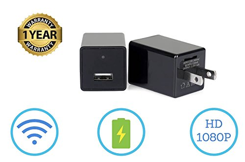 4 Gb Spy Cam (Hidden Spy Camera Phone Charger - 1080P HD USB Cam with Wifi & Motion Detection - Can support 64GB Removable Memory - Can Charge Phones - Perfect for Office Home Nanny Hotel Surveillance)