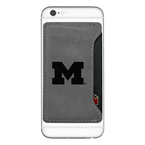 University of Michigan-Cell Phone Card Holder-Grey (Card Business Holder Michigan)
