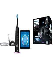 Philips Sonicare HX9901/13 DiamondClean Smart elektryczna szczoteczka do zębów z indywidualną aplikacją treningową, czujnikiem ciśnienia, 4 tryby, 3 poziomy intensywności i ładowarką w kolorze czarnym