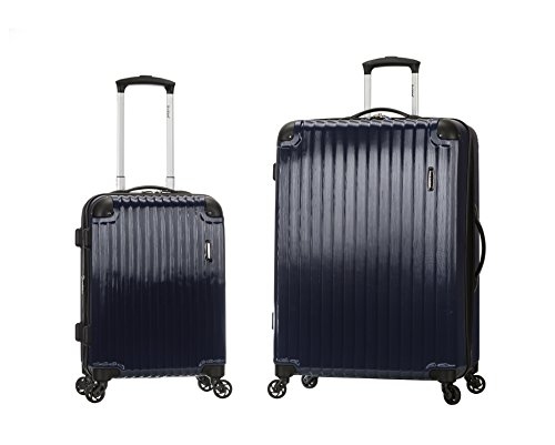 Rockland Santorini 20x28 Inch Expandable Polycarbonate Set, - Carry Burgundy Luggage On