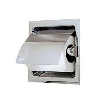 Amazon.com: Recessed Toilet Tissue Holder with Lid - Polished Chrome ...