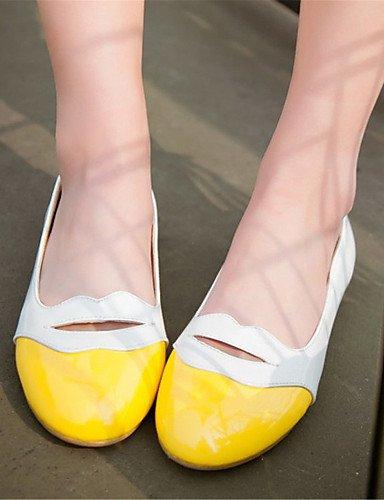 PDX us5 oficina charol y zapatos plano negro Flats de 5 comodidad amarillo cn35 carrera de 5 eu36 casual pink vestido mujer talón rosa uk3 rxqArzFUw