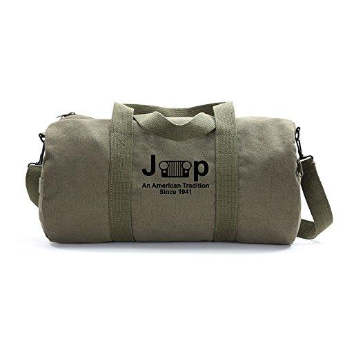 Jeep An American Tradition Since 1941 Army Sport Heavyweight Canvas Duffel Bag