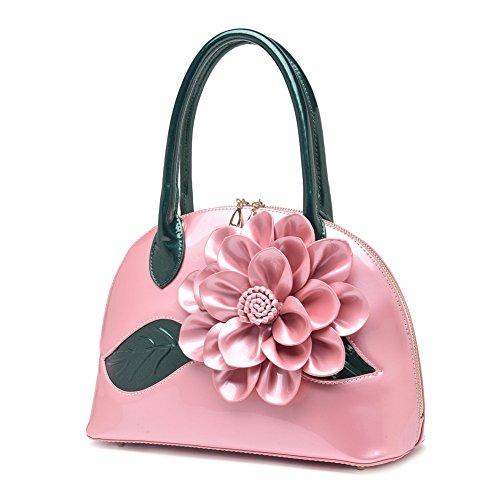 Pink Genda Shoulder 3D Flower Fashion 2Archer Women Handbags Small New zxrzqvU