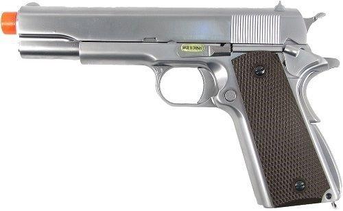 we 1911 metal gas blowback gun silver(Airsoft Gun)