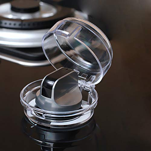 Oopsu Stove Knob Covers Universal Child Proof Clear View Oven Locks