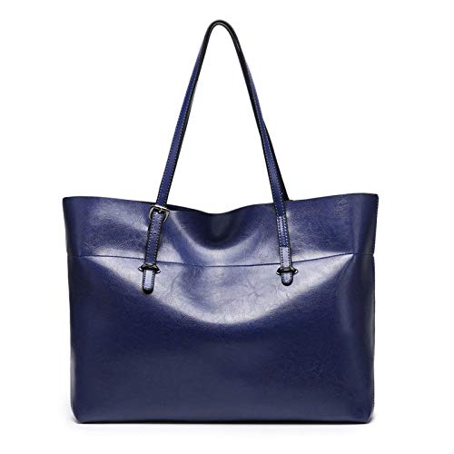 Women Ladies Shoulder Handbags Capacity Large Messenger Blue Bag Shopping Bags Bags rr6g7