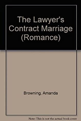 book cover of The Lawyer\'s Contract Marriage