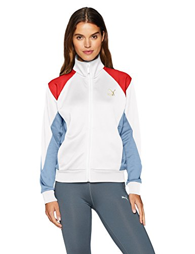 PUMA Women's Retro Track Jacket, White, M