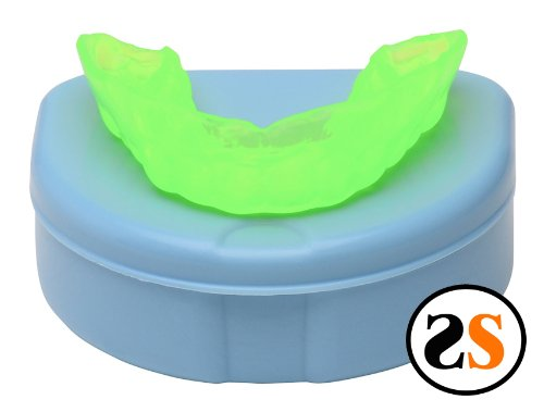 Neon Green Custom Professional Sports Mouth Guard by SportingSmiles