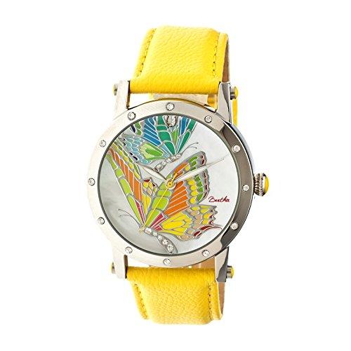 bertha-womens-br4301-isabella-yellow-leather-watch