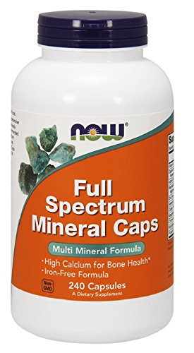NOW Full Spectrum Mineral Caps,240 Capsules