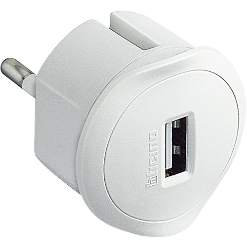 43 opinioni per BTicino S3625DU Adattatore con Presa USB 1.5A per Tutti Gli Standard di Prese,