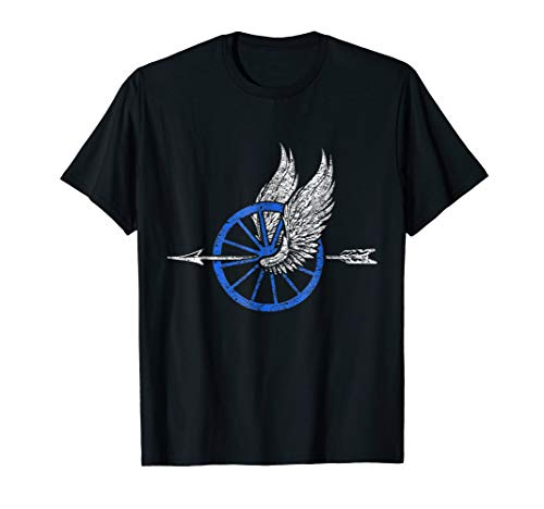 Law Enforcement Motorcycle Unit TShirt Wing Wheel Arrow Tee ()