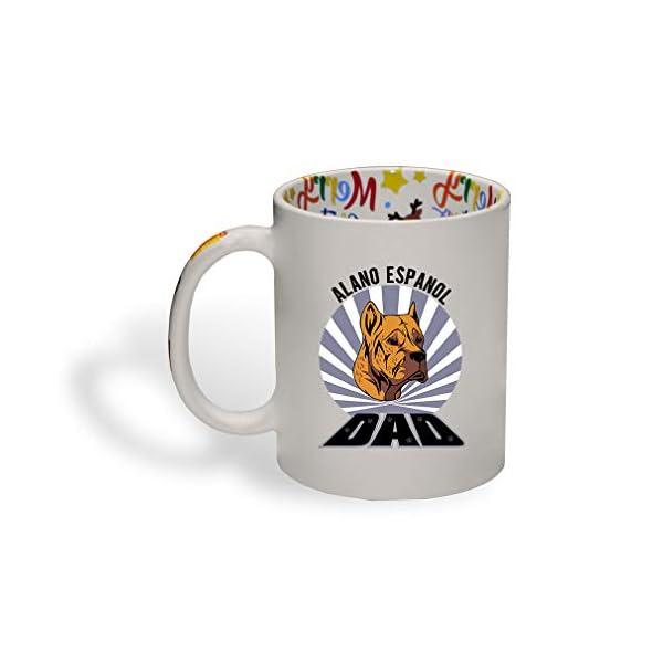 Ceramic Christmas Coffee Mug Dad Alano Espanol Dog Funny Tea Cup 1
