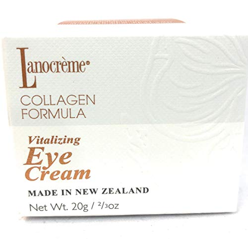 Lanocreme Vitalizing Eye Cream Enriched with Collagen, Argan Oil, Lanolin, Licorice Root Extract, Co-enzyme-10 and Magnolia Bark Extract Made in New Zealand