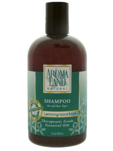 Aromaland Natural Shampoo (Aromaland Shampoo in Lemongrass & Sage 12 oz)