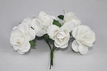 Amazon mini rose bulk paper flowers 05 white 144 stems mini rose bulk paper flowers 05quot mightylinksfo