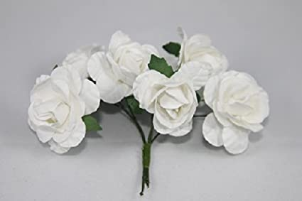 Amazon mini rose bulk paper flowers 05 white 144 stems mini rose bulk paper flowers 05quot mightylinksfo