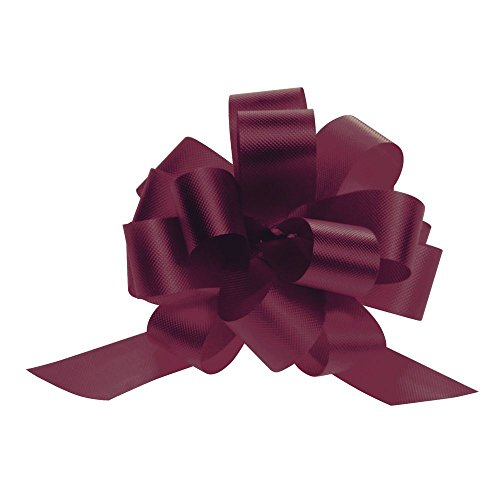 4 (W) Burgundy Pull Bows case of - Bows Burgundy Pull