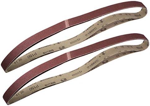 uxcell サンディングベルト25 mm x 1065 mm150グリット アルミニウム酸化物 4個