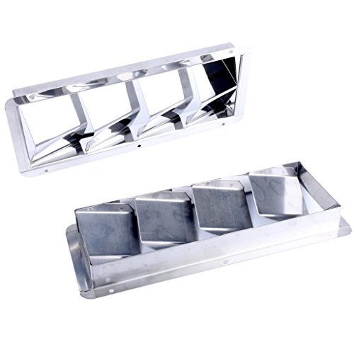 Amarine-made Boat Marine Stainless Steel Vent (4 Louver) - Steel 4 Louver