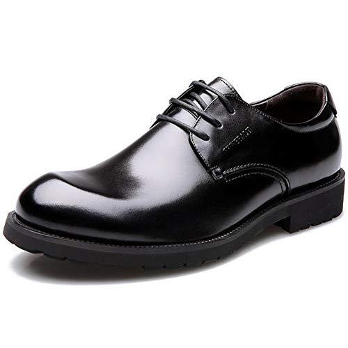 Scarpe da Uomo Derby tonde da Uomo in Vera Pelle Business Casual Casual 469 Black