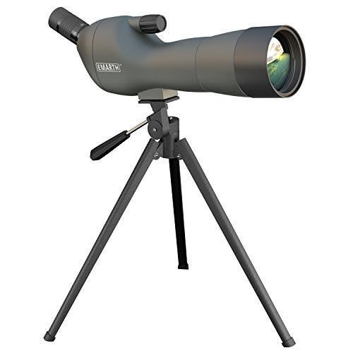 Emarth 20-60x60AE Waterproof Angled Spotting Scope with Tripod, 45-Degree Angled Eyepiece, Optics Zoom 39-19m/1000m