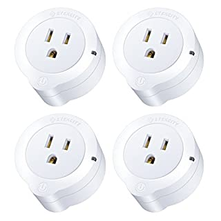 Etekcity VeSync Smart Plug, 4 Pack Mini WiFi Outlets, Works with Alexa, Google Home & IFTTT, Remote Control from Anywhere, WiFi Energy Monitoring with Schedule Function, No Hub Required, ETL Listed