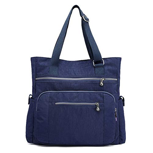 AalarDom Darkblue Zippers Casual Black Women's Bags Bags Nylon Shoulder TSDBG203366 rTSrwqF