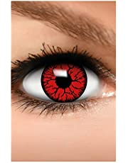 FUNZERA Gekleurde Halloween Contactlenzen, Zachte Motief lens voor chique Jurk Kostuum, 2 stuks, 1 paar, Eenmalig gebruik zonder Dioptrieën, 2 stuks 1 Paar