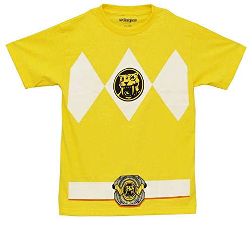 The Power Rangers Yellow Rangers Costume Adult T-shirt Tee, XX-Large -