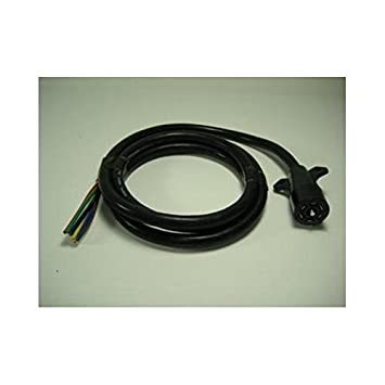 41tBy2Z3sJL._SY355_ amazon com 8' camper truck trailer 7 way wiring harness round truck camper wire harness at gsmportal.co