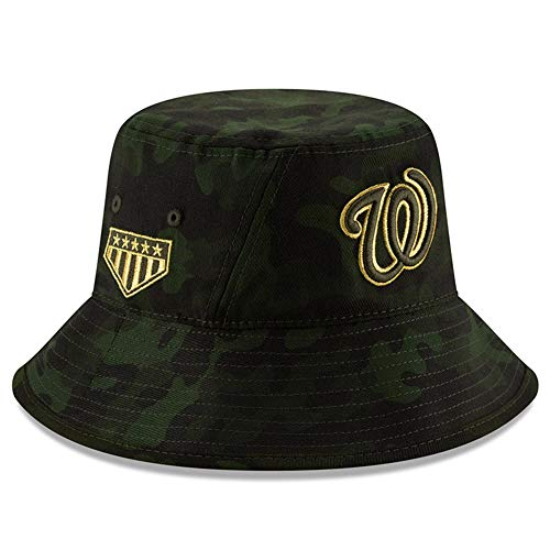 New Era MLB 2019 Armed Forces Day Bucket Hat Cap: OSFM (Washington Nationals) (Washington Nationals Green Hat)