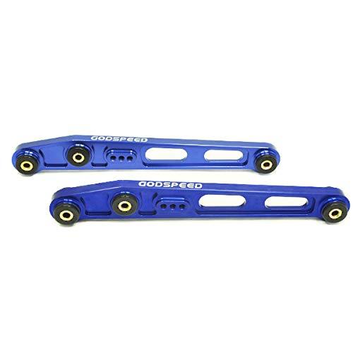 Aluminum Lower Rear Arms Control (Godspeed(AK-075-BLUE) Adjustable Rear Lower Control Arms Billet Aluminum, Blue, Set of 2)